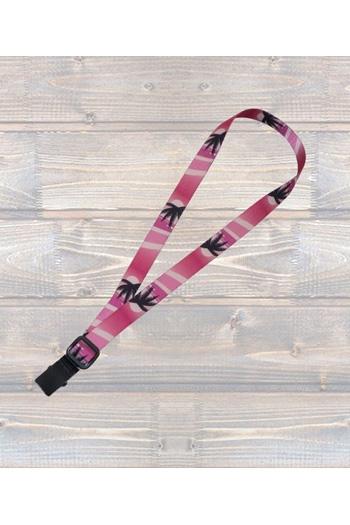 "Ukulele Strap Nylon Webbing 1"" Hawaiian Pink - Sling"