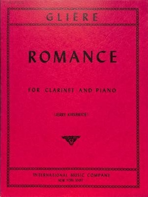 Romance For Clarinet In A Or Bb And Piano Op.35 No.6 (IMC)