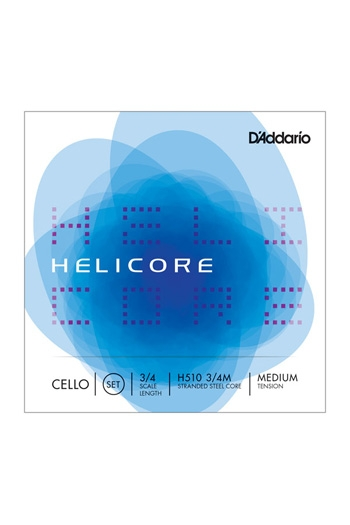 Helicore Cello String Set - 3/4 Medium Tension