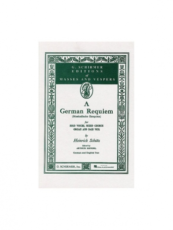 German Requiem (Musicalische Exequien) Vocal Score (Schirmer)