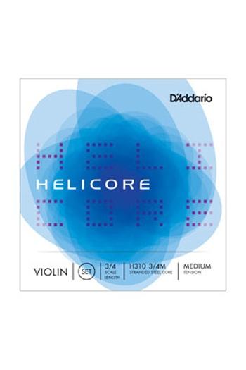 Helicore Violin 3/4 String Set Medium Tension (Wound E)