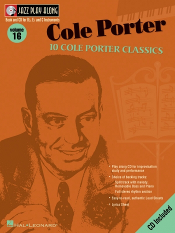 Jazz Play Along Vol.16: Cole Porter: Bb Or Eb Or C Instruments
