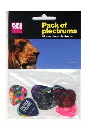 Plectrum Pack Of 10 Assorted Pure Tone