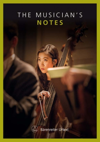 Manuscript - Notes: The Musicians Notes Double Bass: Inerleaved (Barenreiter)