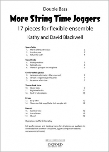More String Time Joggers: Double Bass Part: 17 Pieces Flexible Ensemble