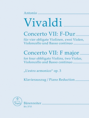 Concerto VII F Major: Violin Solo (4), Viola (2), Violoncello, Basso Continuo
