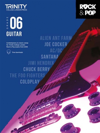 Trinity Rock & Pop 2018 Guitar Grade 6 Book & Download