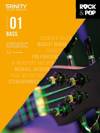 Trinity Rock & Pop 2018 Bass Guitar Grade 1 Book & Download