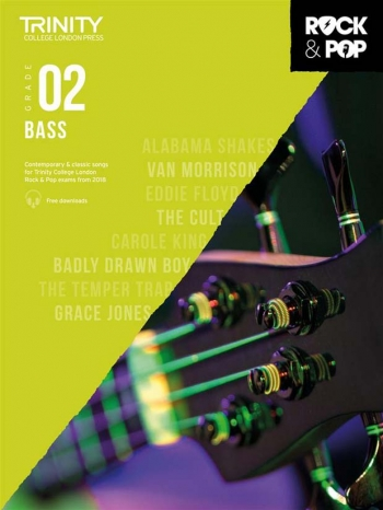 Trinity Rock & Pop 2018 Bass Guitar Grade 2 Book & Download