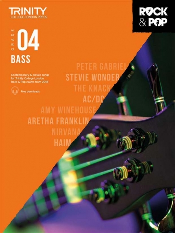 Trinity Rock & Pop 2018 Bass Guitar Grade 4 Book & Download