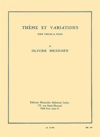 Theme Et Variations: Violin & Piano (Leduc)