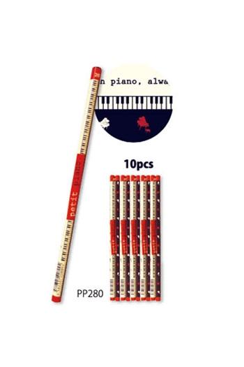 Pencils Pack Of 10 Petite Piano