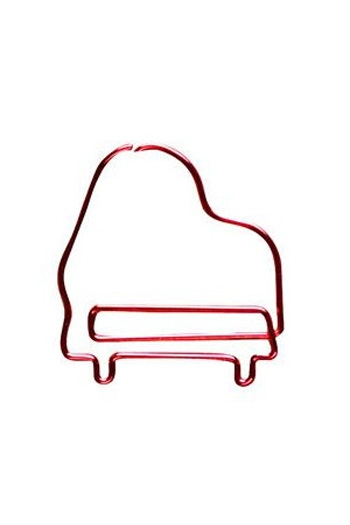 Paper Clips Piano - Red (Pack 8)