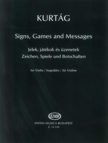 Signs Games And Messages For Violin (EMB)