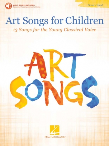 Art Songs For Children: Vocal: Book & Audio Download