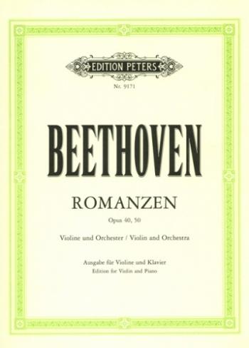2 Romances G Major And F Major Op 40 & Op50: Violin & Piano (Peters)