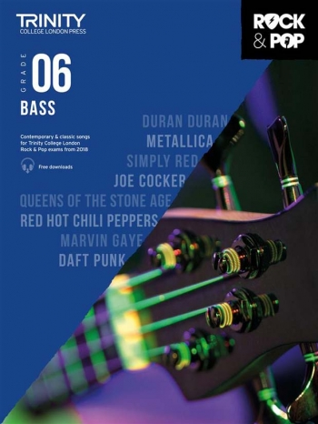 Trinity Rock & Pop 2018 Bass Guitar Grade 6 Book & Download