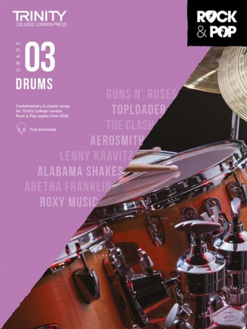 Trinity Rock & Pop 2018 Drums Grade 3 Book & Download