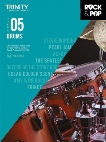 Trinity Rock & Pop 2018 Drums Grade 5 Book & Download