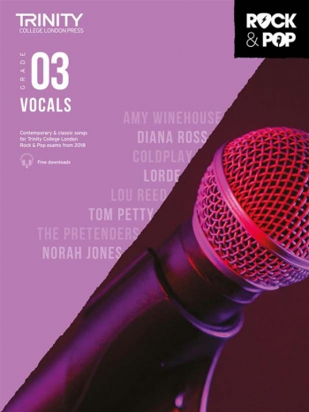 Trinity Rock & Pop 2018  Vocals Grade 3 Book & Download