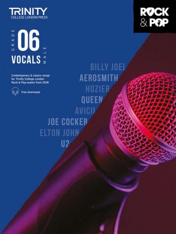Trinity Rock & Pop 2018  Vocals Grade 6 (Male Voice) Book & Download