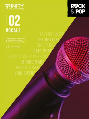 Trinity Rock & Pop 2018  Vocals Grade 2 Book & Download