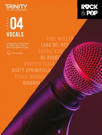 Trinity Rock & Pop 2018  Vocals Grade 4 Book & Download