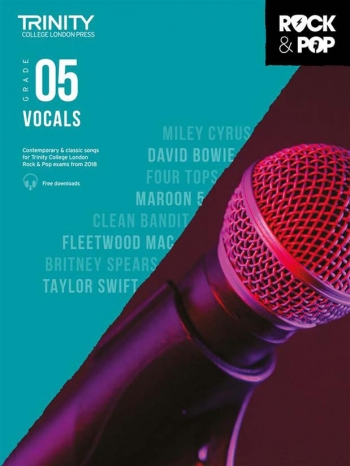 Trinity Rock & Pop 2018  Vocals Grade 5 Book & Download