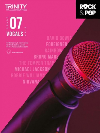 Trinity Rock & Pop 2018  Vocals Grade 7 (Male Voice) Book & Download