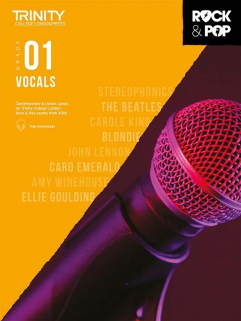 Trinity Rock & Pop 2018  Vocals Grade 1 Book & Download