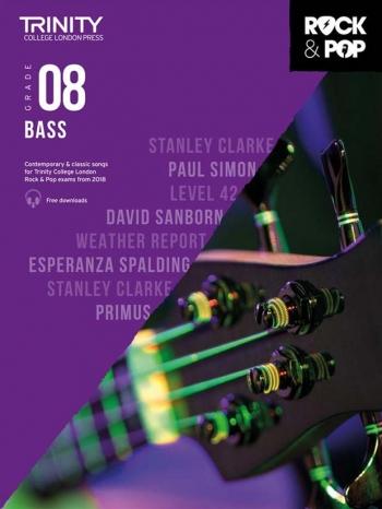 Trinity Rock & Pop 2018 Bass Guitar Grade 8 Book & Download