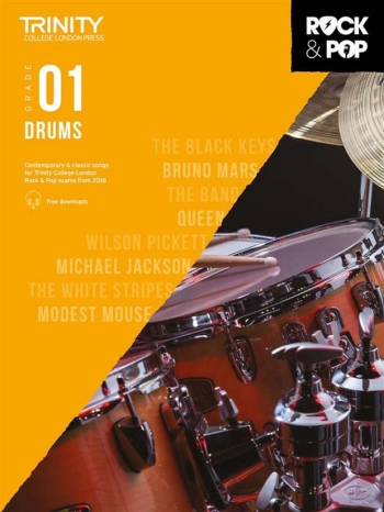 Trinity Rock & Pop 2018 Drums Grade 1 Book & Download