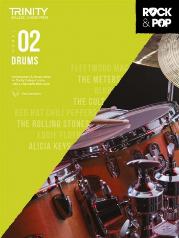 Trinity Rock & Pop 2018 Drums Grade 2 Book & Download