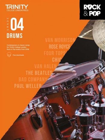 Trinity Rock & Pop 2018 Drums Grade 4 Book & Download
