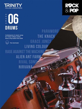 Trinity Rock & Pop 2018 Drums Grade 6 Book & Download