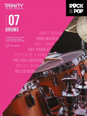 Trinity Rock & Pop 2018 Drums Grade 7 Book & Download