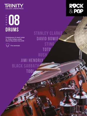 Trinity Rock & Pop 2018 Drums Grade 8 Book & Download