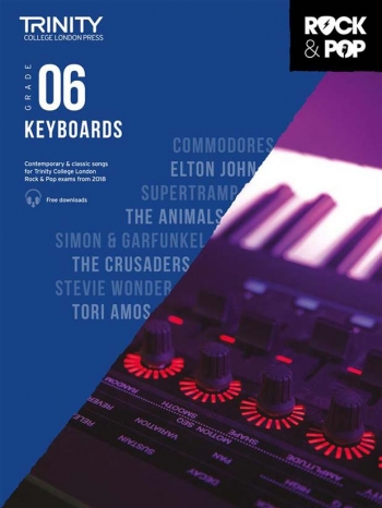Trinity Rock & Pop 2018 Keyboard Grade 6 Book & Download