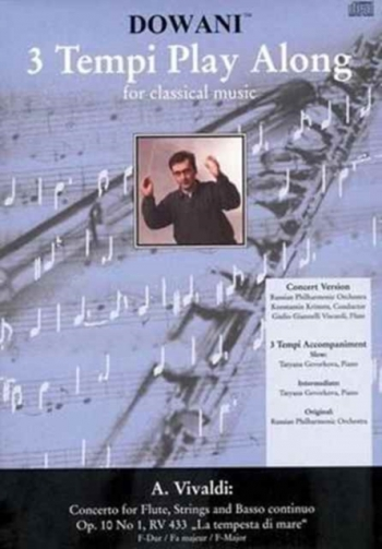 Concerto F Major La Tempesta Di Mare: Flute & Piano Book & Cd (Dowani)