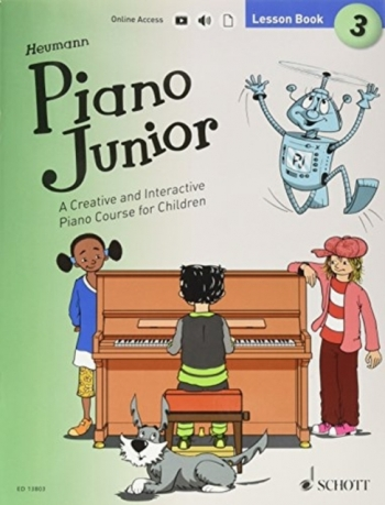 Piano Junior Lesson Book 3: Creative And Interactive Piano Course: Edition With Online Aud