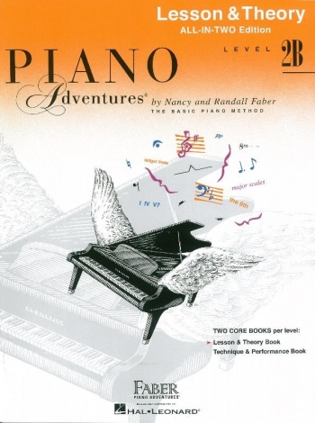 Piano Adventures: Lesson & Theory Book: All-In-Two: Level 2B
