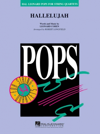 Hallelujah Hal Leonard Pops For String Quartet: Score & Parts (arr Longfield)