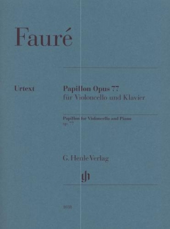 Papillon OP.77: Cello & Piano (Henle)