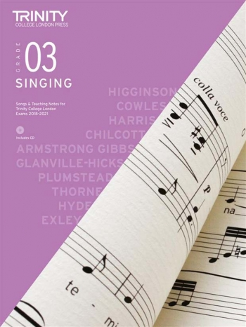 Trinity College London Singing Grade 3 2018-2021 Book & CD