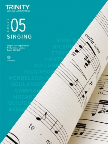 Trinity College London Singing Grade 5 2018-2021 Book & CD