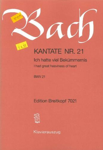 Cantata No 21: Vocal Score (Breitkopf)