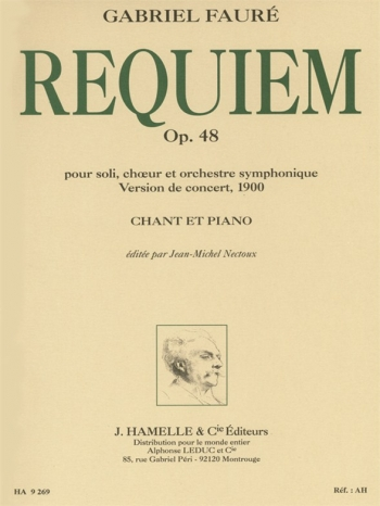 Requiem: Op 48: Vocal Score & Piano: SATB (Leduc)