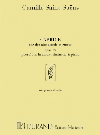 Caprice On Danish And Russian Airs: Op.79: Flute Oboe Clarinet & Piano: Score & Parts