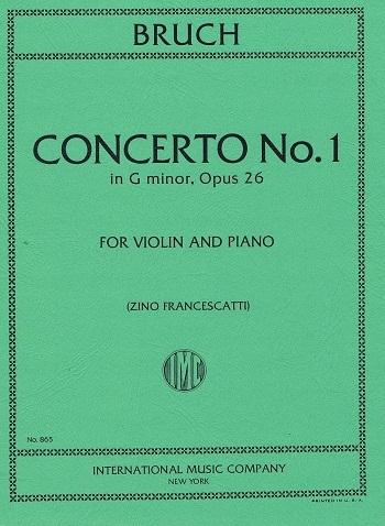 Violin Concerto No.1 G Minor Op.26 Violin & Piano (International)