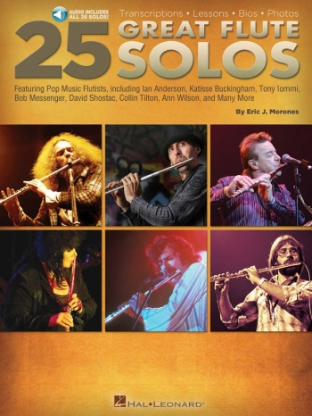 25 Great Flute Solos Book & Download (Eric J. Morones)